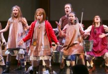 It's a Hard Knock Life for these orphans in the Royal City Musical Theatre Production of Annie. Photo by Tim Matheson.