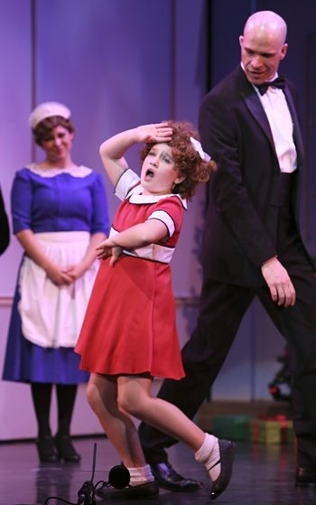 The combination of Julie MacLean as Annie and Steve Maddock as Daddy Warbucks makes this Royal City Musical Theatre production a delight. Photo by Tim Matheson.