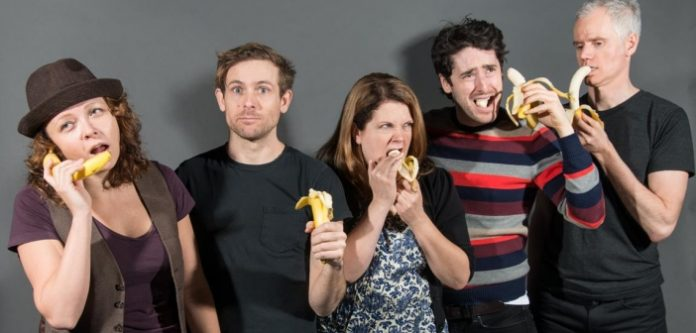 Improvisers compete for bananas in Vancouver TheatreSports League's Gorilla Theatre.