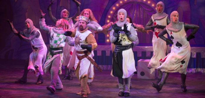The cast of the Arts Club Theatre Company production of Monty Python's Spamalot. Photo by David Cooper.