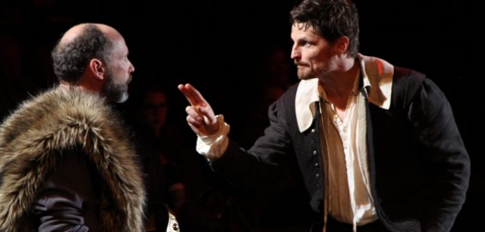 Gerry Mackay and Bob Frazer in Equivocation. Photo by David Blue.