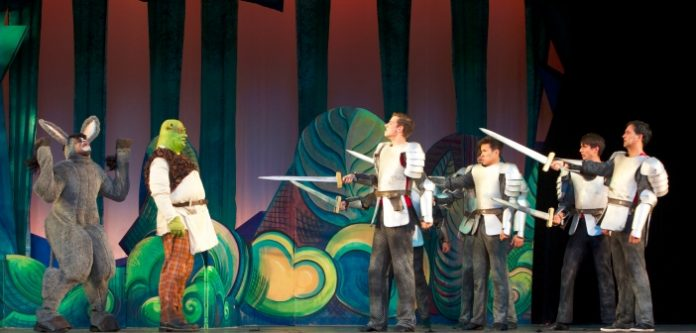 Members of the cast of Shrek: The Musical. Photo by Milan Radovanovic.