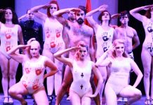 Members of the cast of Vixens of Wonderland. Photo by Beatty/Oei Photography.
