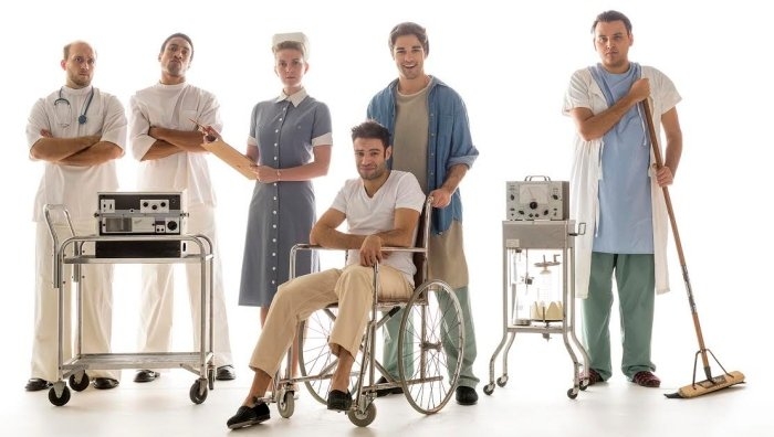 Members of the cast of the Studio 58 production of One Flew Over the Cuckoo's Nest. Photo by David Cooper.
