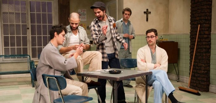 Members of the cast of One Flew Over the Cuckoo's Nest. Photo by David Cooper.