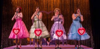 The cast of the Footlight Theatre Company production of The Marvelous Wonderettes