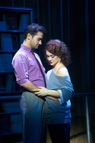 Adam Rennie and Karli Dinardo as Nick and Alex in Flashdance the Musical.  Photo by Chad Bremerman.