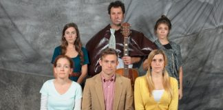 Members of the cast of David Hudgin's Small Parts