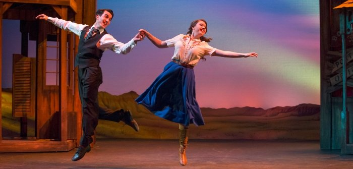 Gaelen Beatty as Bobby and Kate Blackburn as Polly. Photo by David Cooper.