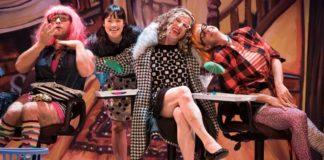 Josh Drebit, Donna Soares, Allan Zinyk, James Long in a scene from Cinderella: An East Van Panto. Photo by Emily Cooper.
