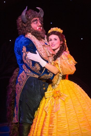 Ryan Everett Wood and Jillian Butterfield in Disney's Beauty and the Beast. Photo by Matthew Murphy.