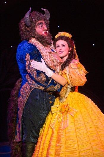Ryan Everett Wood and Jillian Butterfield in Disney's Beauty and the Beast. Photo by Matthew Murphy.