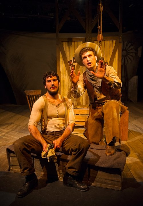 Owen Bishop as Curly and Kamyar Pazandeh as Jud Fry