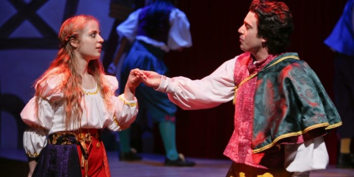 Anais West and Kayvon Kelly as Romeo and Juliet in Shakespearean Rhapsody. Photo by Tim Matheson.