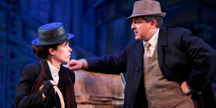 Tracy Neff and Warren Kimmel in the Royal City Musical Theatre production of My Fair Lady. Photo by Tim Matheson.