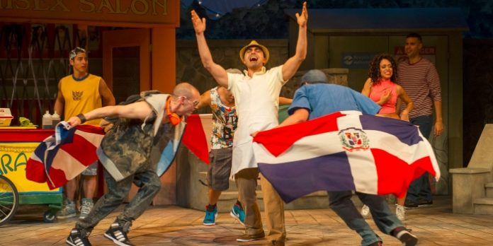 Members of the cast of In The Heights. Photo by David Cooper.