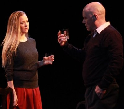 Kate Dion Richard and John Prowse discuss a WASP family secret over  cocktails in A R  Gurney s. Theatre review  The Dining Room is creaky   Vancouver Presents