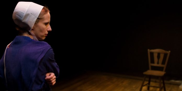 Susie Coodin in The Amish Project. Photo by Ron Reed.