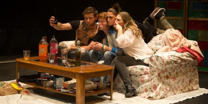 The cast of Bright Blue Future. Photo by Mark Halliday.