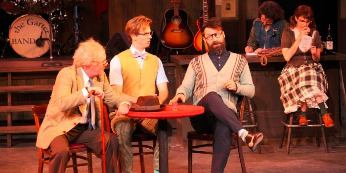 David Marr, Ben Elliott & Andrew McNee in the Bard on the Beach production of The Merry Wives of Windsor. Photo by David Blue.