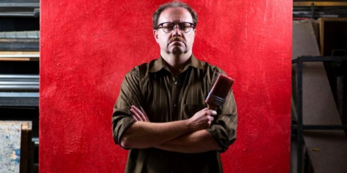 David J Bodor portrays artist Mark Rothko in Red. Photo by Javier R Sotres.