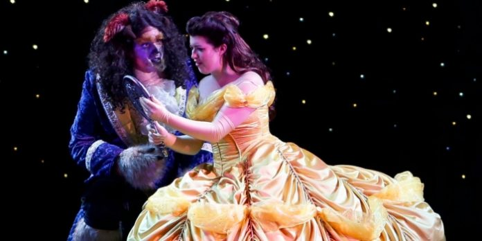 Peter Monaghan and Jaime Piercy in Beauty and the Beast. Photo by Tim Matheson.