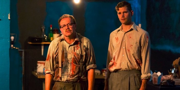 David J Bodor and Patrick Dodd in the Aenigma Theatre production of Red. Photo by Javier R. Sotres Photography.