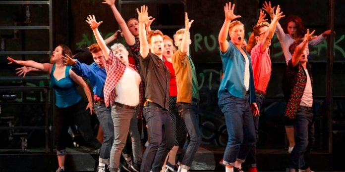 Members of the cast of the Theatre Under Stars production of West Side Story. Photo by Tim Matheson.