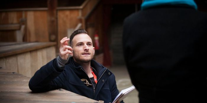 Kevin Bennett returns from London's Globe Theatre to direct at his alma mater. Photo by Sophia Schorr-Kon.