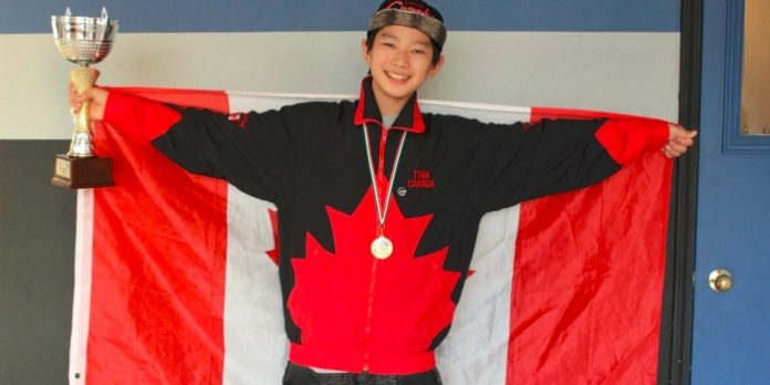 Travis Lim celebrates his recent wins at the IDO Street Dance World Championships