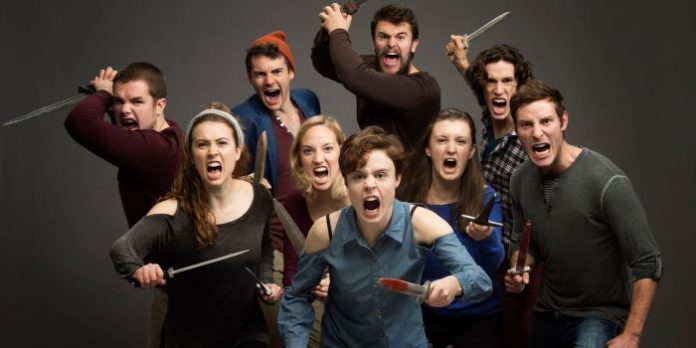 The cast of the Studio 58 production of Troilus & Cressida. Photo by David Cooper.