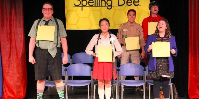 The adult cast of The 25th Annual Putnam County Spelling Bee bring their young characters to life.