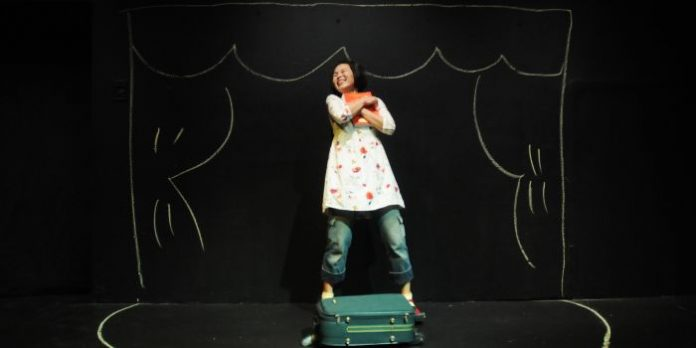 Last seen on the Pacific Theatre stage in 2016 with her play Suitcase Stories (photo above by Damon Calderwood), Maki Yi returns for the company's 2019/2020 season with her new Gramma.