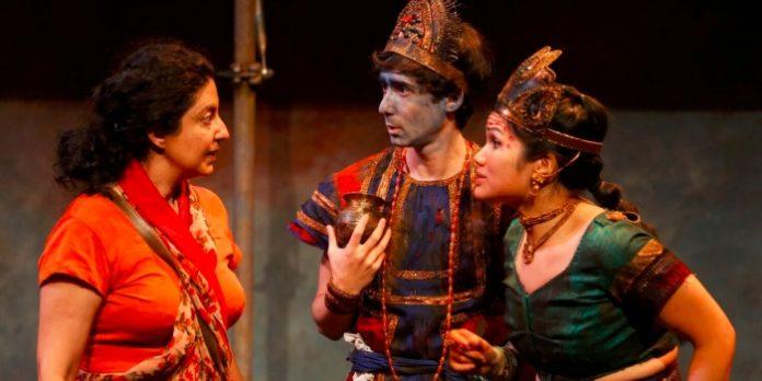 Nimet Kanji, Amitai Marmorstein and Carmela Sison in Sultans of the Street. Photo by Tim Matheson.