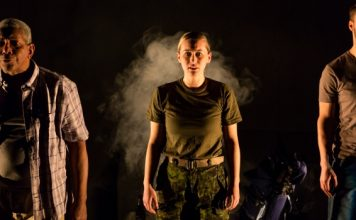 Tom Pickett, Siona Gareau-Brennan and Kyle Jespersen in The Fighting Season. Photo by Javier R. Sotres.