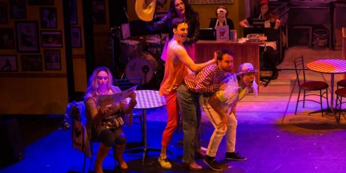 Members of the cast of Elbow Room Cafe The Musical. Photo by Tina Krueger Kulic.