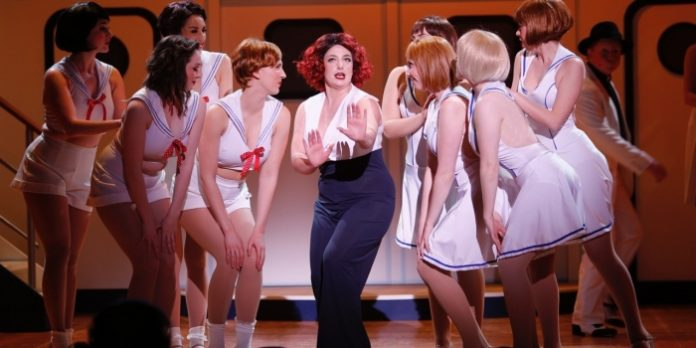 Madeleine Suddaby as Reno in the Royal City Musical Theatre production of Anything Goes. Photo by Tim Matheson.