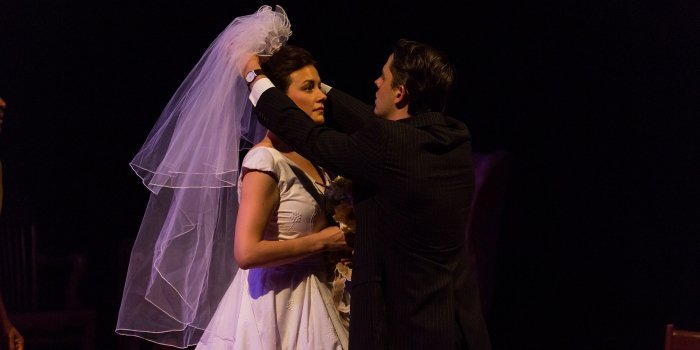 Alexis Kellum-Creer and Adam Beauchesne in A Prayer for Owen Meany. Photo by Javier R. Sotres.