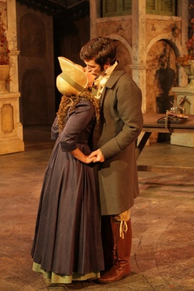 Kate Besworth & Charlie Gallant in The Two Gentlemen of Verona. Photo by David Blue.