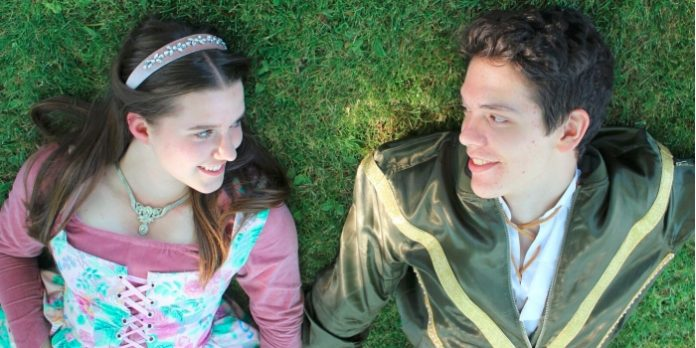 17-year old Finnegan Howes and 14-year-old Maggie Stewart play the star-crossed lovers. Photo by Emily Jane King.