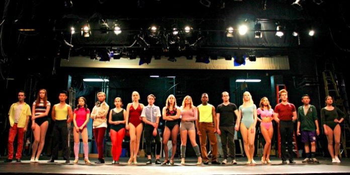 Members of the cast of the Fighting Chance Productions presentation of A Chorus Line. Photo by Allyson Fournier Photography.