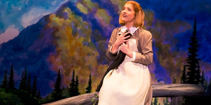Jill-Christine Wiley plays oppposite McLean as Maria Rainer in The Sound of Music. Photo by Matthew Murphy.