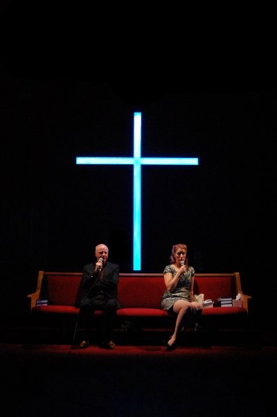 Ron Reed and Erin Ormond in The Christians. Photo by Jalen Saip.