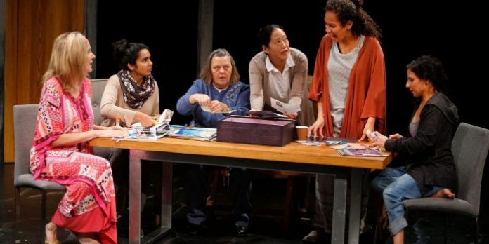 Members of the cast of the Touchstone Theatre production of Happy Place. Photo by Tim Matheson.