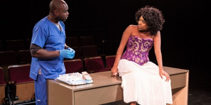 Kwesi Ameyaw and Katrina Reynolds in the Mitch and Murray Productions presentation of Smart People. Photo by Shimon Karmel.