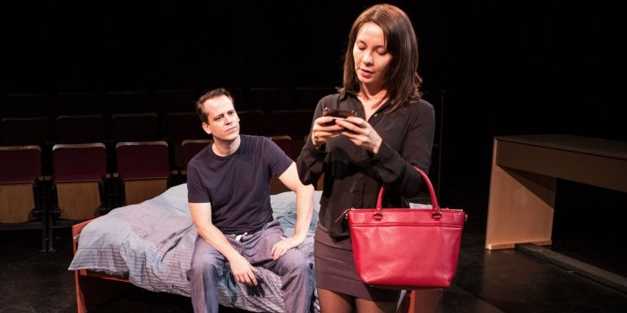 Tricia Collins and Aaron Craven in Smart People. Photo by Shimon Karmel.
