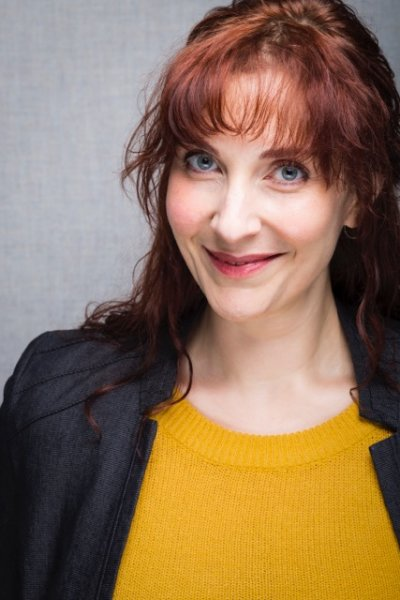 Tara Travis performs as Agatha Christie in Who Killed Gertrude Crump?