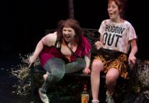 Cheyenne Mabberley and Katey Hoffman as Jules and Fiona in The After After Party. Photo by Helenka Boden.