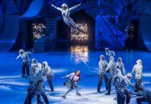 Cirque du Soleil's Crystal combines skating with aerial wonder. Photo by Matt Beard.