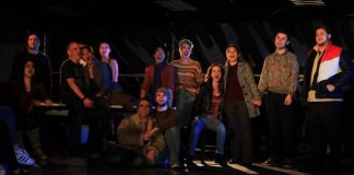 Members of the cast of the Renegade Arts Company production of Rent. Photo by M. Luro.